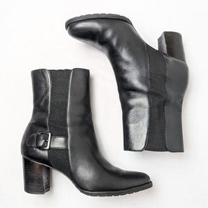 Cole Haan black leather booties ankle boots size 6